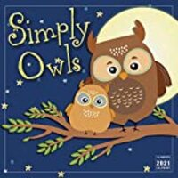 2021 Simply Owls 16-Month Wall Calendar