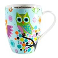 Divinity Boutique Inspirational Ceramic Mug - Owls on Tree, Joshua 1:9, Be Strong and Courageous., , Multicolor