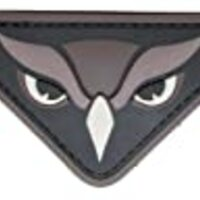 Owl Head PVC Patch (SWAT (Black))