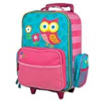 Stephen Joseph Kids' Little Girls Classic Rolling Luggage, Owl, One Size