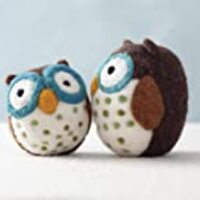 Woolbuddy Needle Felting Kit Owl – Arts and Crafts Wool Kit for Decorations, Ornaments or Family Projects – Fun, Easy, Rewarding.