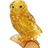 42 piece Crystal puzzle Owl Gold 3D puzzle