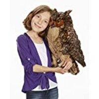 "Melissa & Doug Lifelike Plush Owl (Stuffed Animal & Plush Toy, Crafted With Care, Soft Fabric, 17"" H x 14"" W x 17"" L, Great Gift for Girls and Boys - Best for 3, 4, 5 Year Olds and Up)"