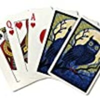 Owl - Paper Mosaic (Playing Card Deck - 52 Card Poker Size with Jokers)