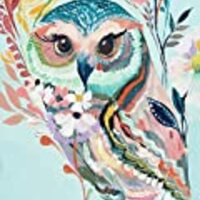 Colorful Owl cross stitch kits, 14ct, Egyptian cotton thread 180x240 stitch, 43x54cm cross stitch kits