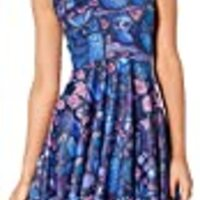 Sister Amy Women's Printed Elastic Reversible Sleeveless Camisole Skater Dress Owls