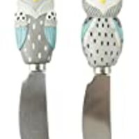 Boston Warehouse Artsy Grey Owl Stainless Steel Spreader (Set of 2)