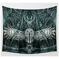 KRWHTS Mandala Tapestry Wall Hanging, Great Grey Owl Wall Tapestry