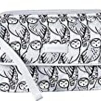 Vera Bradley Women's Iconic RFID All-In-One Crossbody Owls Gray One Size