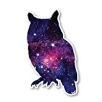 "Owl Sticker Galaxy Stickers - Laptop Stickers - 2.5"" Vinyl Decal - Laptop, Phone, Tablet Vinyl Decal Sticker S1238"