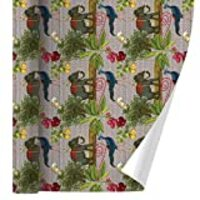 GRAPHICS & MORE India Elephant Peacock Owl Pattern Premium Roll Gift Wrap Wrapping Paper