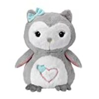 Lambs & Ivy Sweet Owl Dreams Gray/White Plush Stuffed Animal Toy - Sugar Cookie
