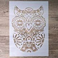 DIY Decorative Owl Stencil Template for Scrapbooking Painting on Wall Furniture Crafts (A4 Size)