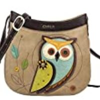 Chala Handbags Owl Crescent Crossbody Handbag Purse, Owl Lovers