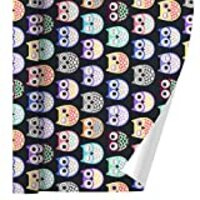 GRAPHICS & MORE Colorful Owls Cute Pattern Premium Roll Gift Wrap Wrapping Paper