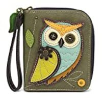 Charming Chala Wallet Credit Cards Coins Wristlet (A-Owl-III)