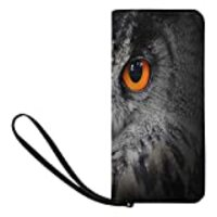 INTERESTPRINT The Evil Eyes of Eagle Owl Clutch Purse for Women Evening Party