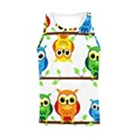 INTERESTPRINT Men's Athletic Compression Under Base Layer Sport Tank Top Cute Cartoon Owls XL