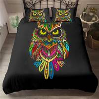 Boys Youth Duvet Cover Set King for Kids Teens Owl Bedding Set 3D Safari Wildlife Print Comforter Cover Bird Animal Bedspread Cover