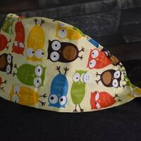 Owl Surgical Cap Scrub Cap-Accessories Nurse Ear Saver Chemo Cap Ready to Ship Free Shipping