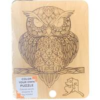 Owl Color Your Own Puzzle Kit