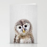 Baby Owl - Colorful cards