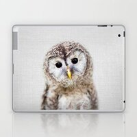 Baby Owl - Colorful laptop skin