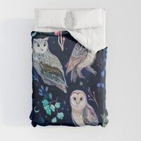 Night Owls duvet cover