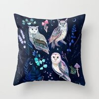 Night Owls pillow