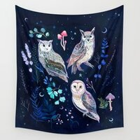 Night Owls tapestry