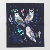 Night Owls throw blanket