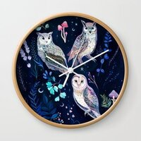 Night Owls wall clock