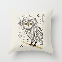 Hypno Owl pillow
