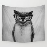 Mr. Owl tapestry