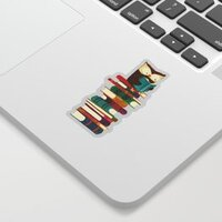 Owl Reading Rainbow sticker
