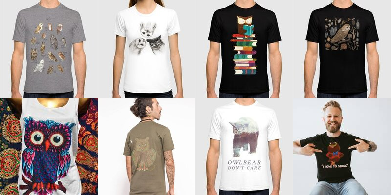 c8af92b7 Owl T-shirts page 1 - Owl Stuff